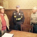 Inside the J. Sidna Allen Home~ Mark Clark ~ HPS, with Carroll County Historical Society board member Victor Allen and President Ed Stanley