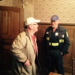 Inside the J. Sidna Allen Home is Mark Clark ~ HPS with The Carroll County Historical Society board member Victor Allen